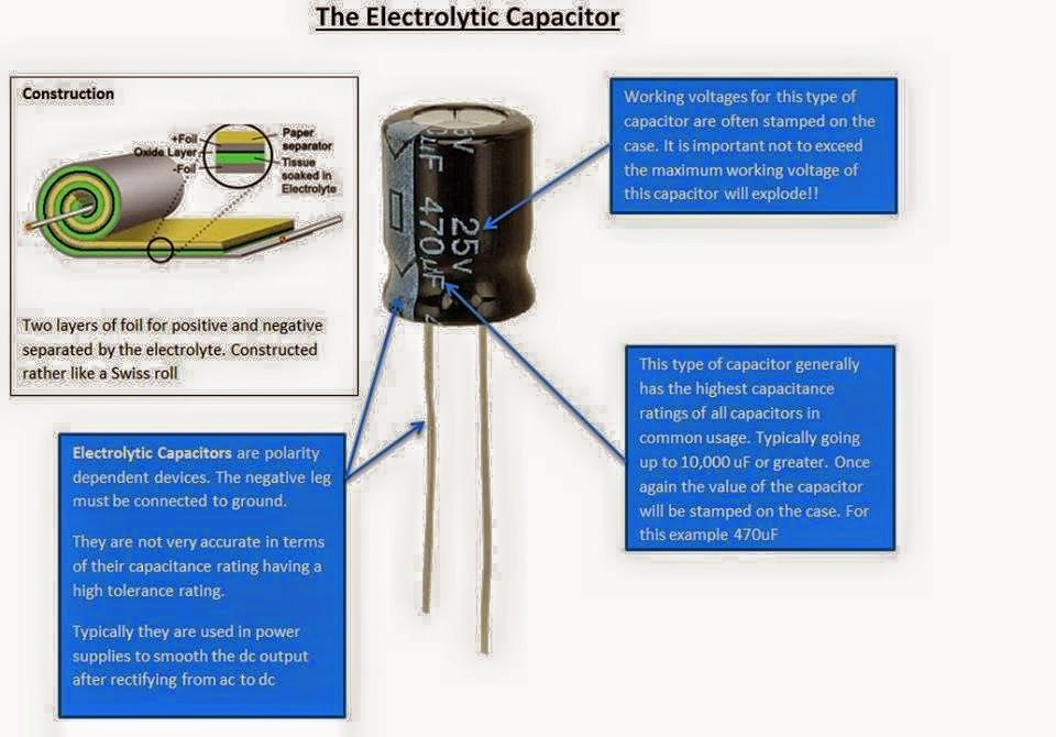 electrolytic capacitor wiring diagram