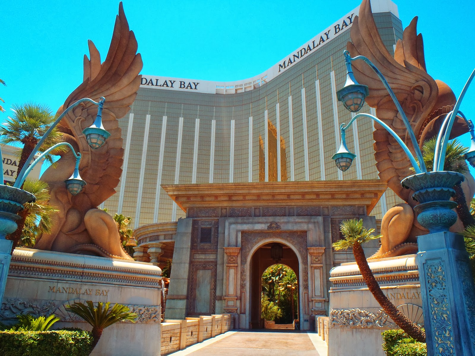 the stunning Mandalay Bay Hotel in Las Vegas