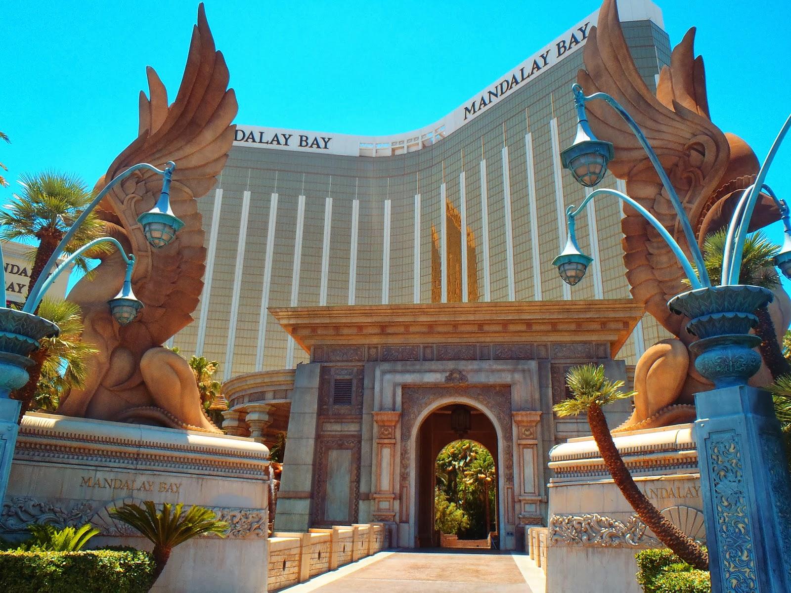 the stunning Mandalay Bay Hotel in Las Vegas