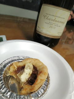 Itty Bitty Pie Company Brie and Caramelized Onions Pie with 2013 Legends Estates Chardonnay Reserve