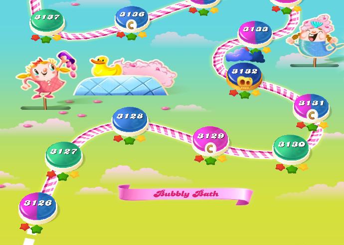 Candy Crush Saga level 3126-3140