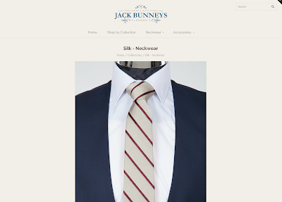 wedding ties from jack bunneys, silk