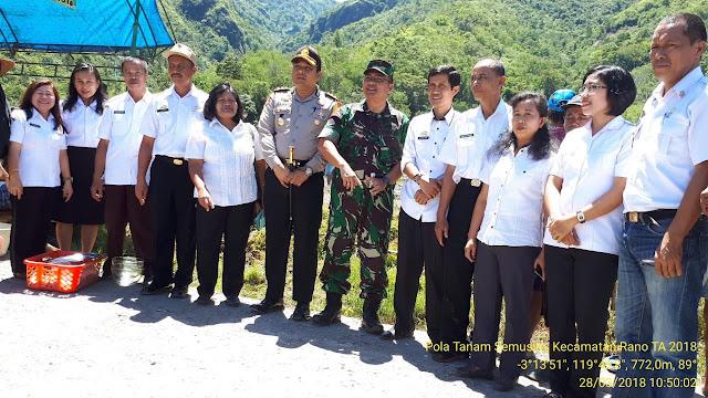 Kecamatan Rano Antusias Sambut Brigade Turun Sawah