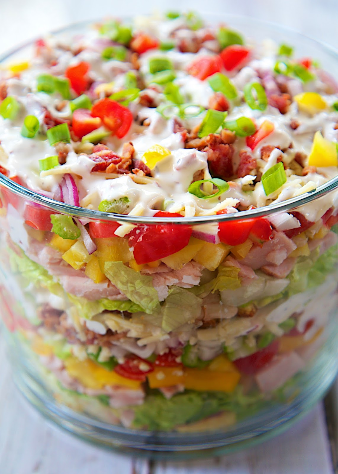 Cornbread & Turkey Layered Salad - Plain Chicken