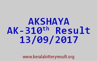 AKSHAYA Lottery AK 310 Results 13-9-2017