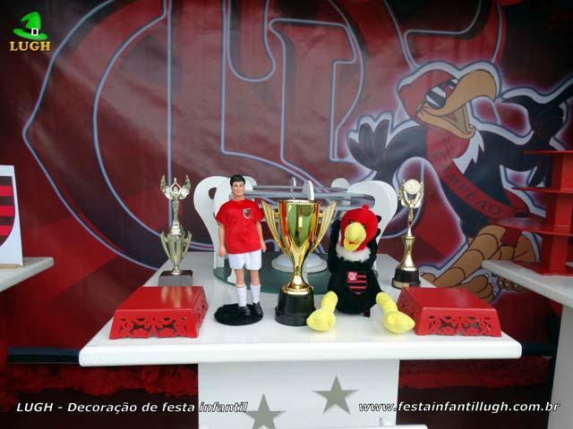 Mesa de tema Flamengo, festa de aniversário