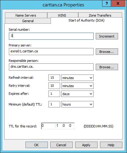 Figure 12: Step 12 of migrating a Linux BIND name server to a Windows Server DNS server.