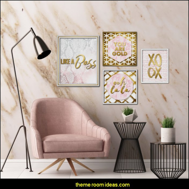 Pink Blush Inspiration Wall Art  Blush pink decorating - blush pink decor - blush and gold decor - blush pink and gold bedroom decor -  blush pink gold baby girl nursery furniture - blush art prints - rose gold bedroom decor -  blush black bedroom decor - blush mint green decor - Blush Black Gold Glitter home decor - Blush Pink furniture