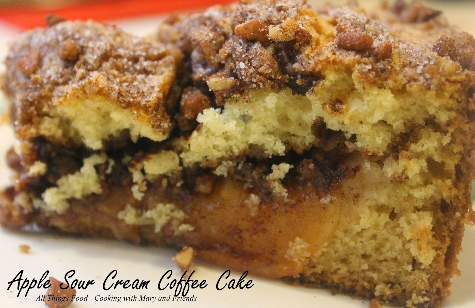 Cooking With Mary And Friends Apple Sour Cream Coffee Cake
