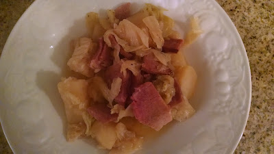 slow cooker ham and cabbage