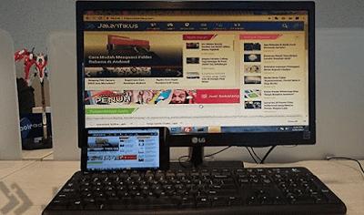 Cara Menjadikan Android Sebagai Monitor PC (Gratis)
