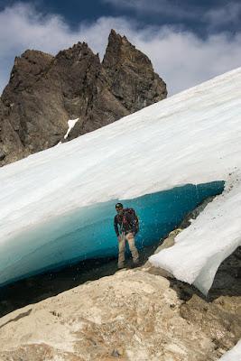 StasherBC under the melting Matchlee Glacier