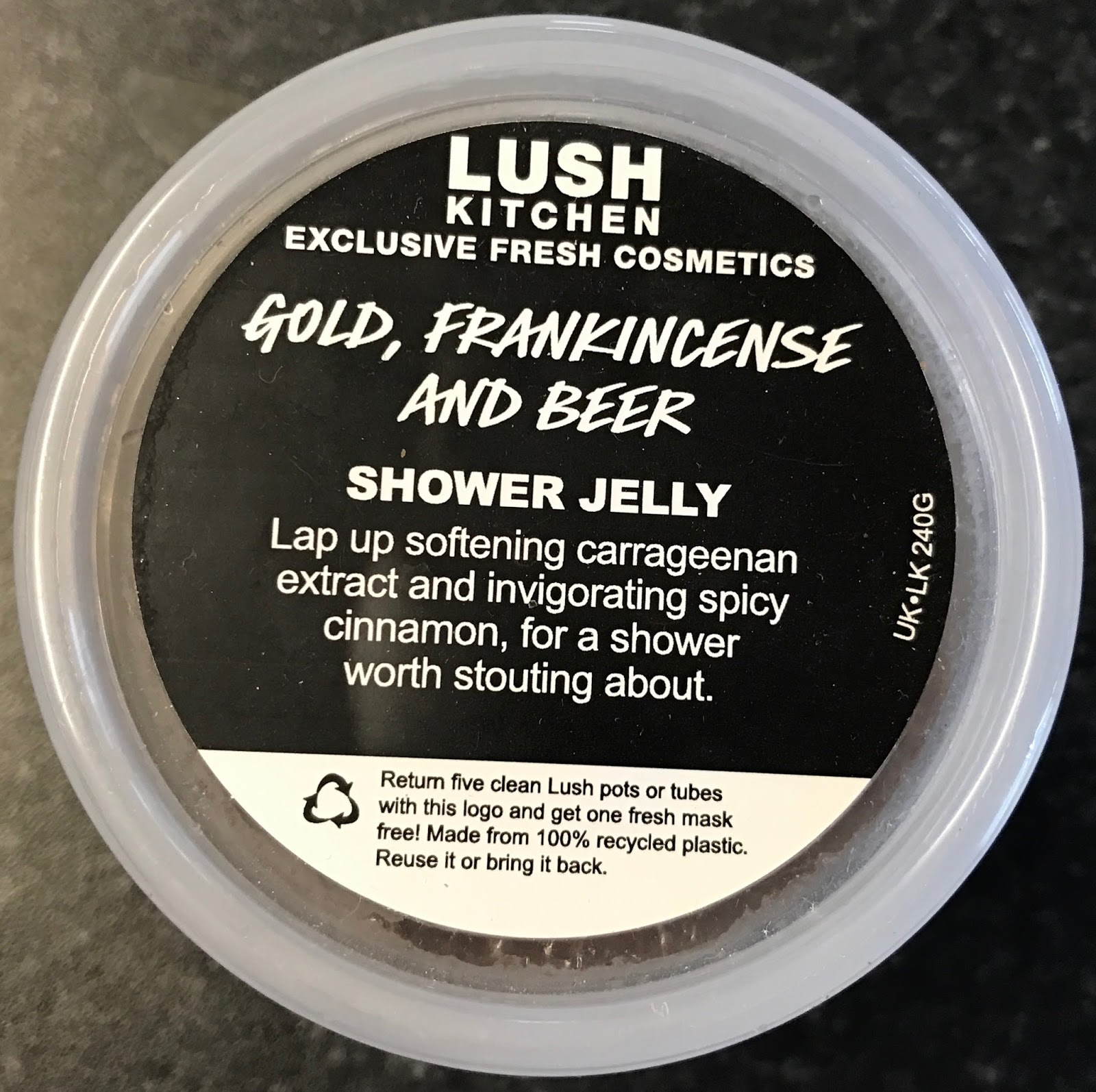 All Things Lush UK: Gold, Frankincense & Beer Shower Jelly