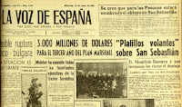 Flying Saucers Over San Sebastián - La Voz de España 3-22-1950