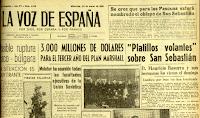 Flying Saucers Over San Sebastián - La Voz de España 3-22-1950
