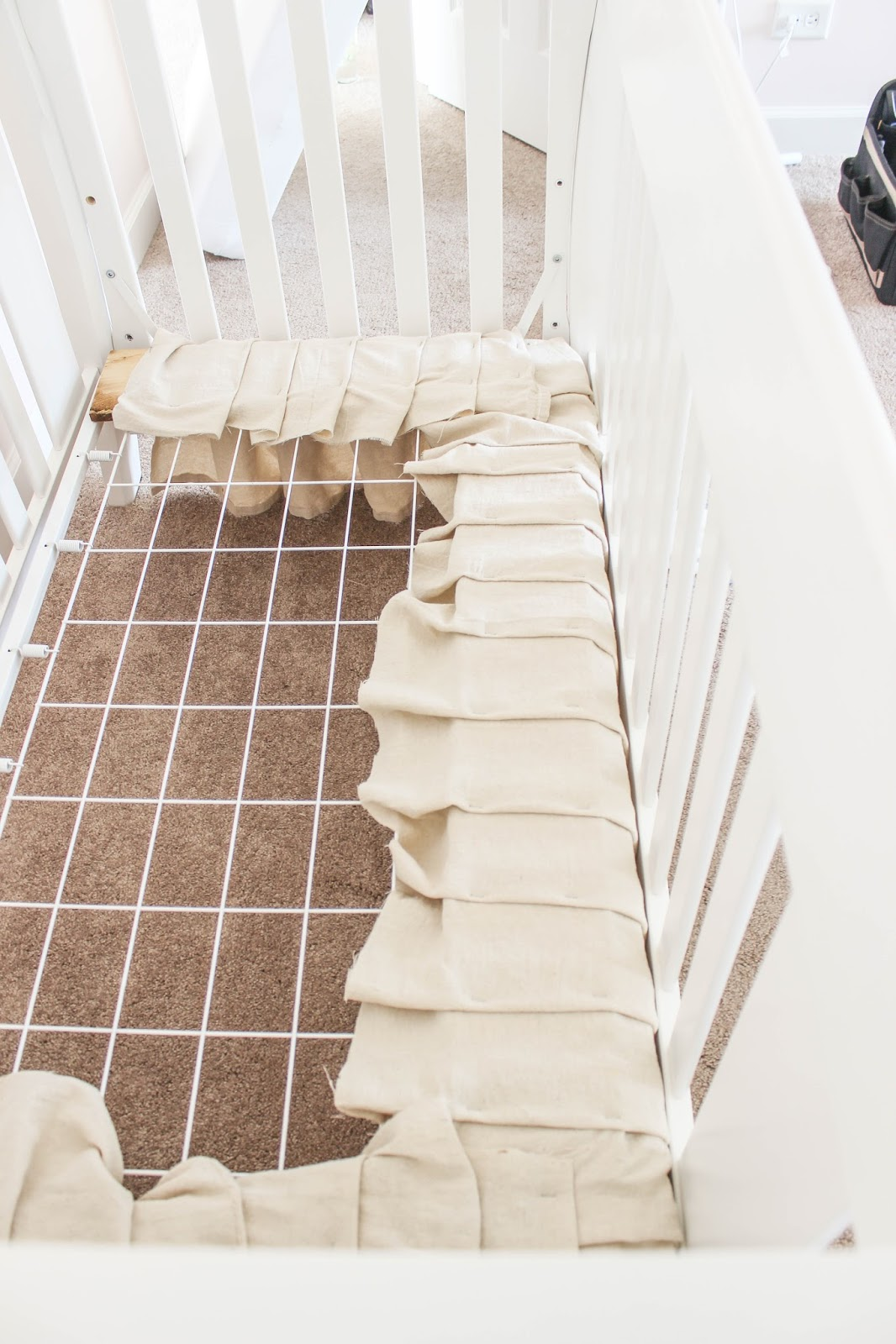how to make a crib skirt