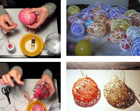 Fatevi le vostre palline di natale arredamento facile - Palline di natale fatte in casa ...
