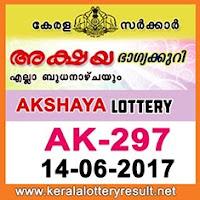 Akshya Lottery AK-297 Results 14-6-2017