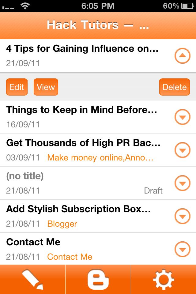 Official Blogger iPhone App | Hack Tutors — Blogger Tricks