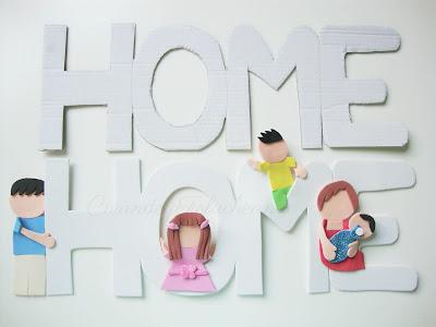 letras y familia fofucha en goma eva