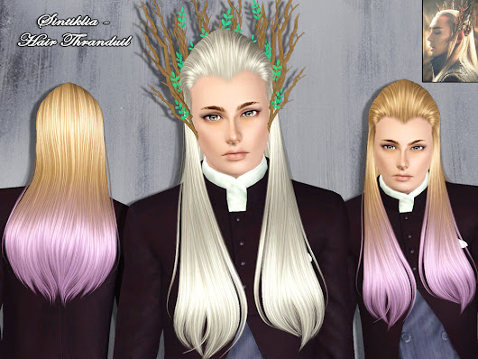 Sintiklia - Male hair Thranduil for Sims 3
