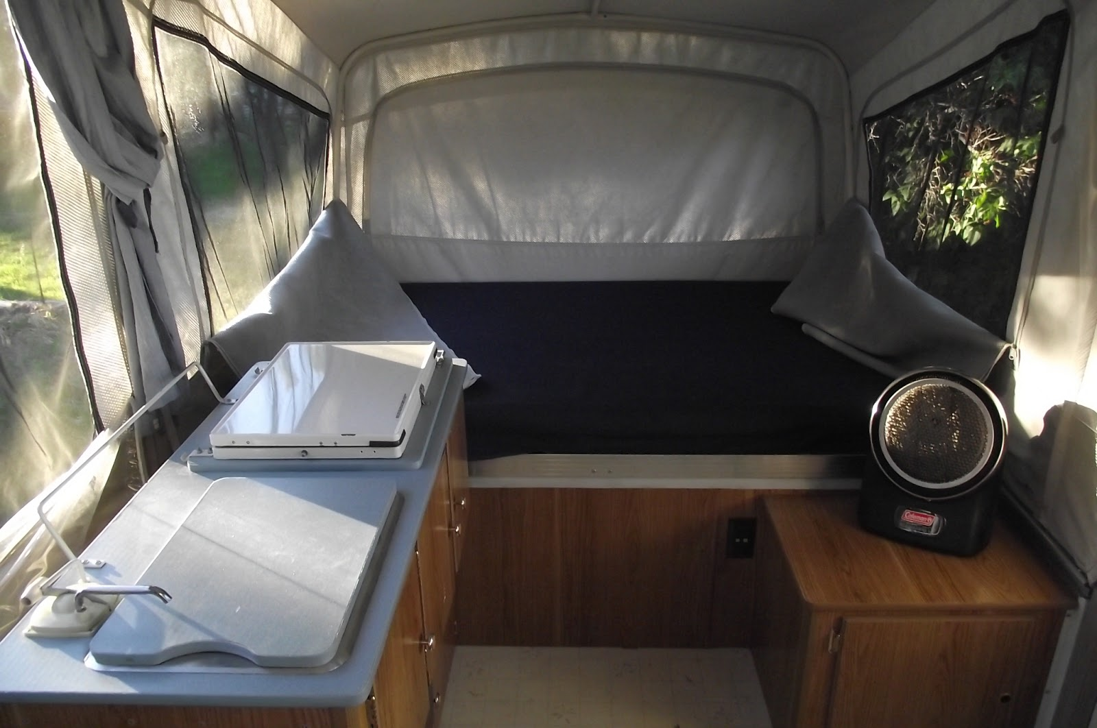 Camping Bastards Com: Our Coleman Pop up camper and its mods