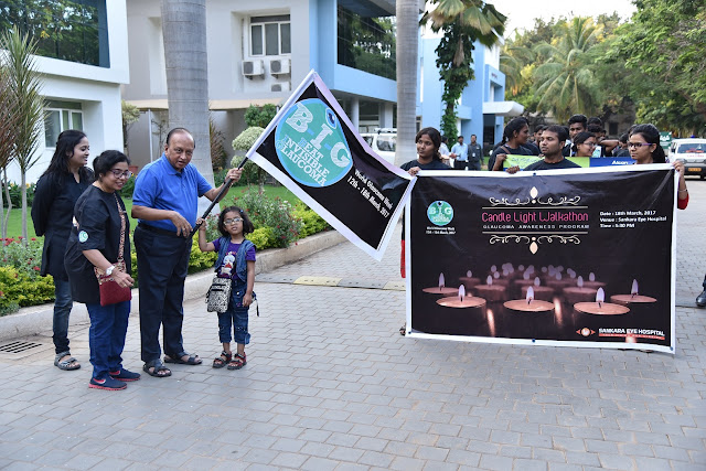 Sankara Eye Hospital celebrates World Glaucoma Week with candlelight walkathon