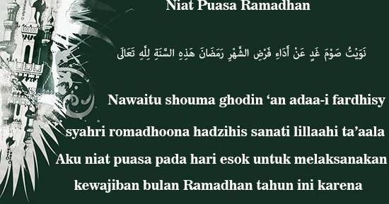 Bacaan Doa Niat Puasa Bulan Ramadhan Yang Benar Sebulan Penuh