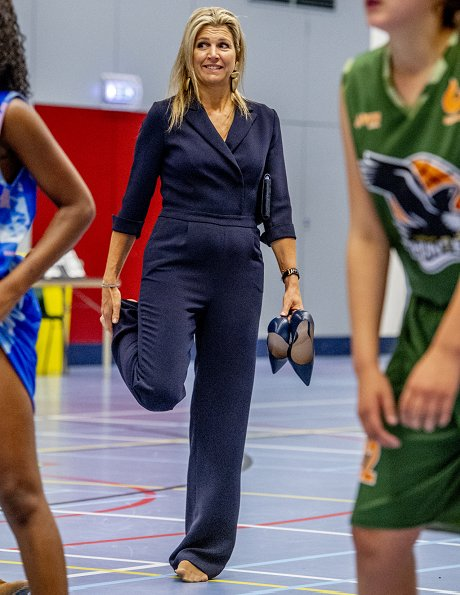 Queen Maxima wore Natan Crepe Jumpsuit and Gianvito Rossi pumps. The apple of Orange 2018. Peter Ottens