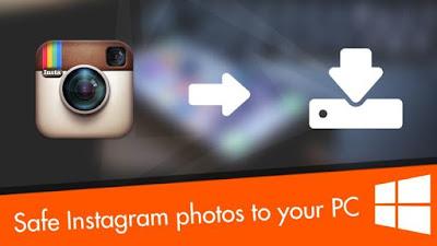 Comment enregistrer une photo instagram sur PC