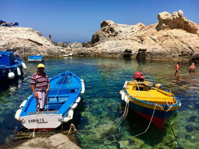 Cala Fonte da U'Russulill {Best Beach Clubs in Italy} Ponza
