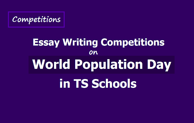 Essay Writing Competitions on World Population Day in TS Schools 2019