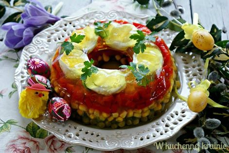 Babka galaretkowa - galaretka warzywno jajeczna