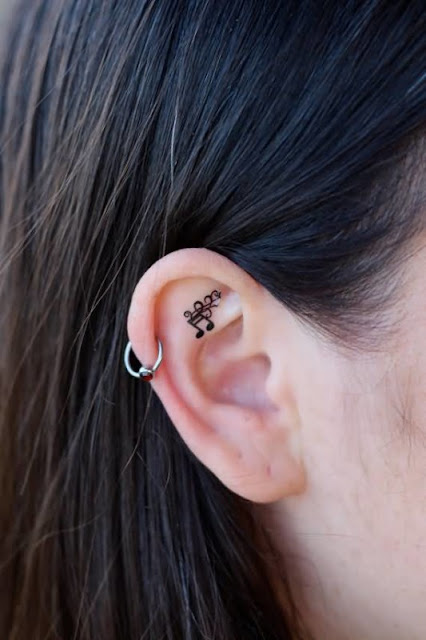 Top 20 best tattoo designs earlobes for women