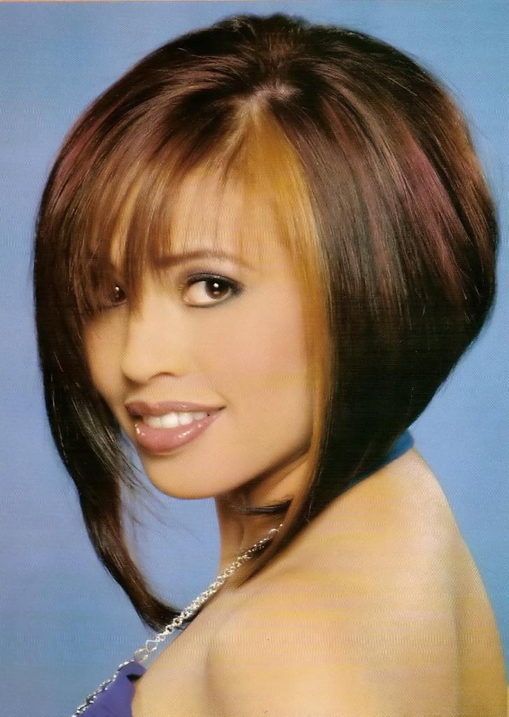 CHIN LENGTH HAIRSTYLES 2012 Angled bob hairstyles