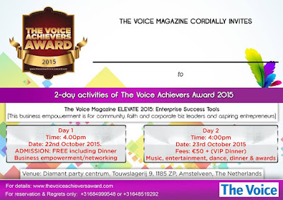 Muzvare Betty Makoni to receive the Prestigious The Voice Achievers of Africa Award