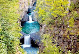 Las Siete Tazas National Park, Chile.
