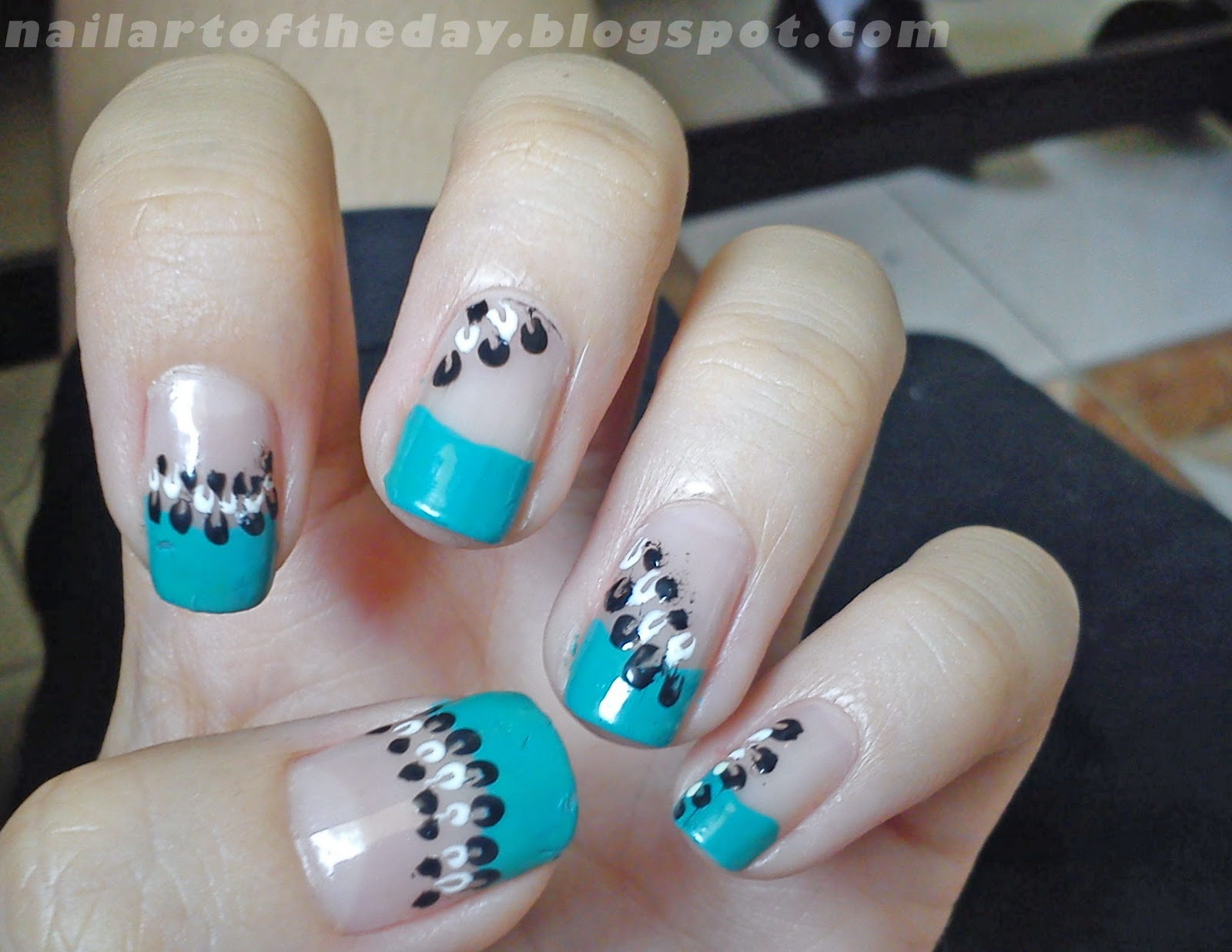 Nail Art Of The Day Simple Design Spider Nail Art