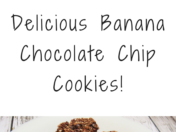 Delicious Banana  Chocolate Chip Cookies | Vegan