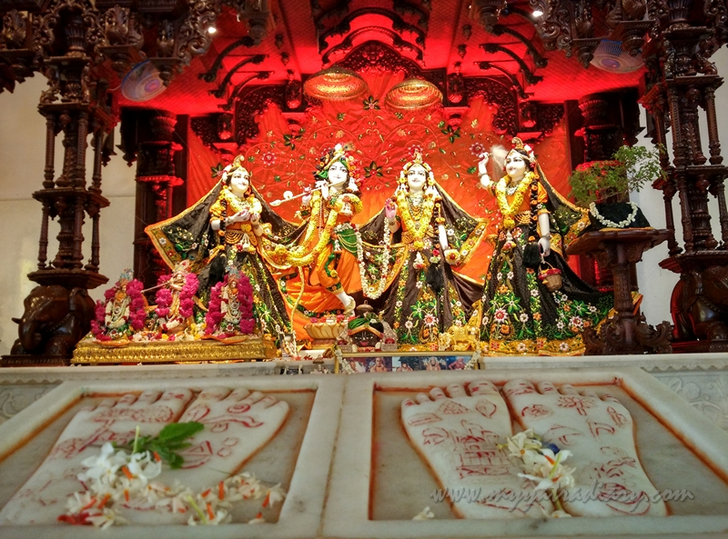 Lord Nityananda and Shree Radha in ISKCON Temple, Chennai