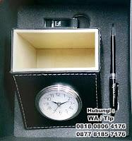 Souvenir Giftset 3 in 1, Paket bingkisan untuk korporat 3 in 1, Paket gift set box ekslusif, Gift Set untuk perusahaan, Paket cinderamata, Gift Set Pulpen + USB + Jam meja (Custom)