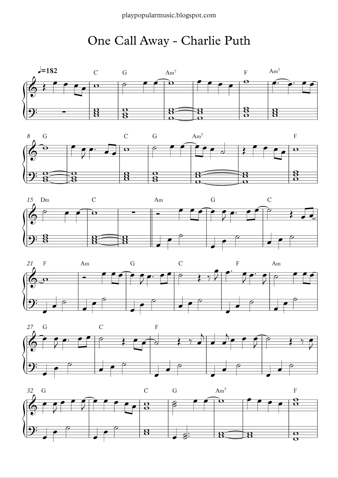 This is a graphic of Universal Piano Sheet Music Free Printable Popular Songs