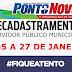 Prefeitura de Ponto Novo publica decreto que dispõe sobre o recadastramento dos servidores públicos municipal