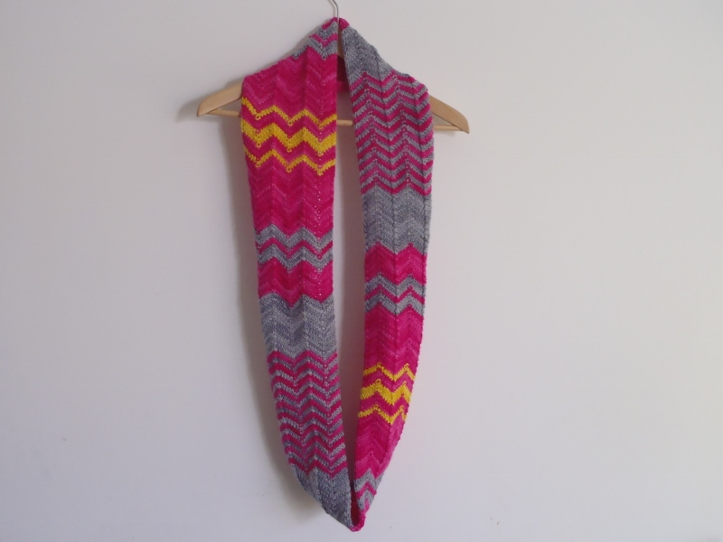 Stanas Critters Etc.: Knitting Pattern for Chevron Infinity Scarf or Cowl