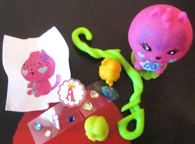 Игрушка розовый кот из банана