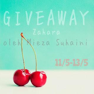 Giveaway Zahara oleh Mieza Suhaini