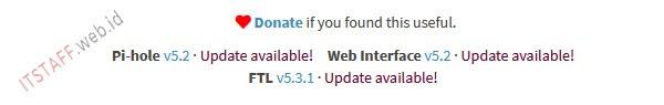 Pi-hole notif update - ITSTAFF.web.id