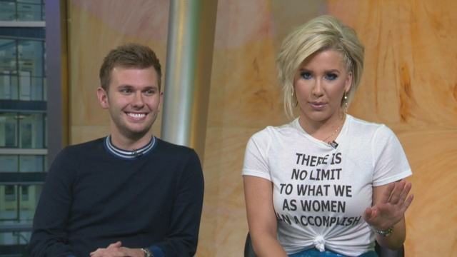 Savannah Chrisley from Growing Up Chrisley wearing 'There Is No Limit To What We As Women Can Accomplish' women empowerment tee shirt.