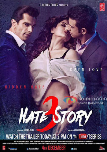 Hate Story 3 2015 Hindi 480p DVDScr 400MB