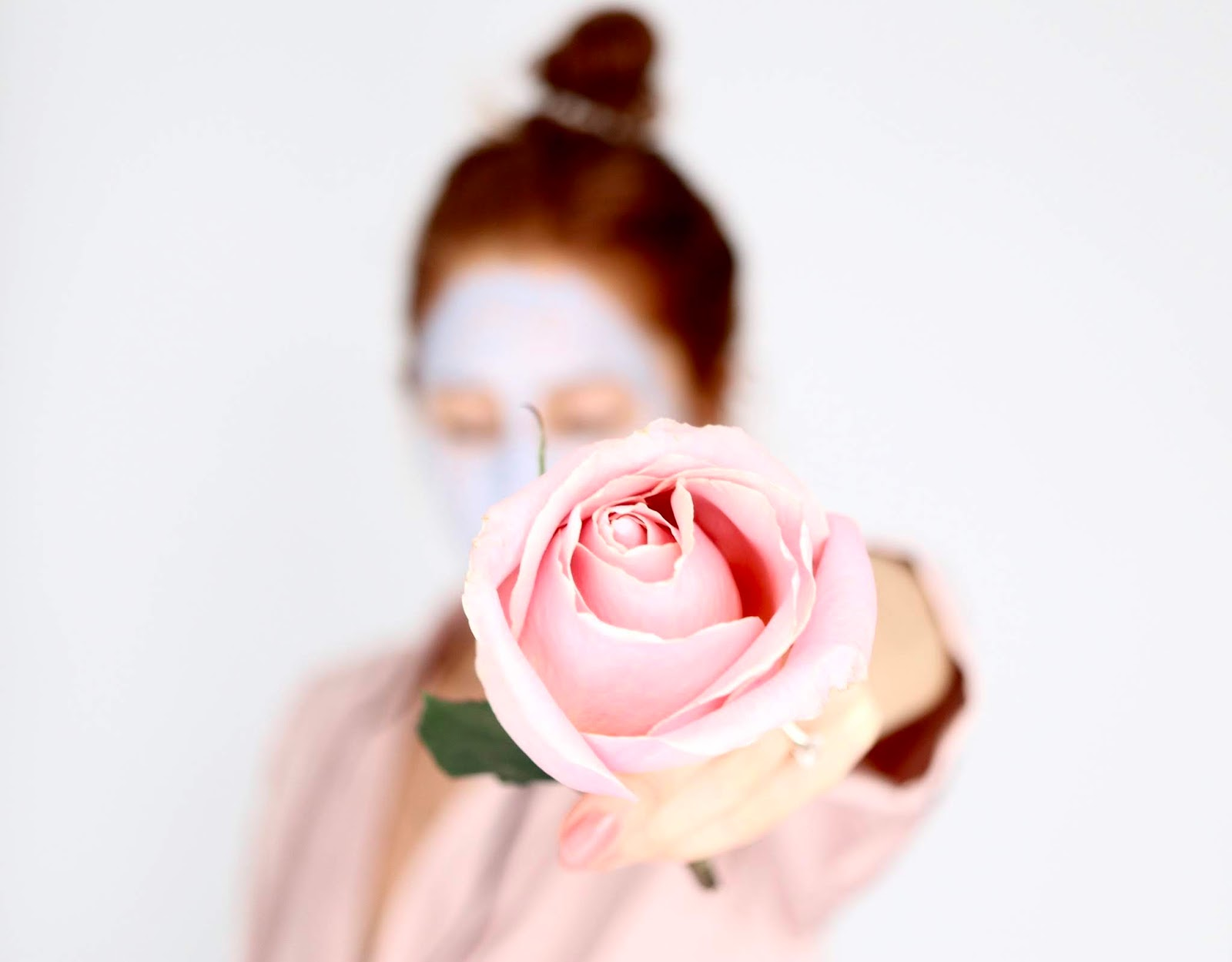 girl with natural rose
